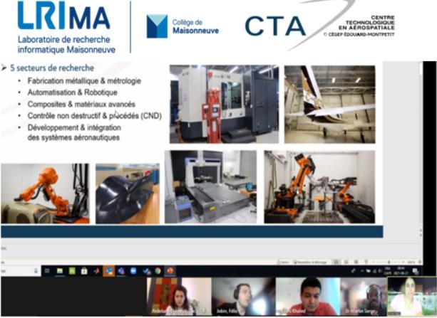 Des étudiants du LRIMa collaborent avec le CTA sur un projet d'IA pour optimiser l'usinage des pièces d'avion