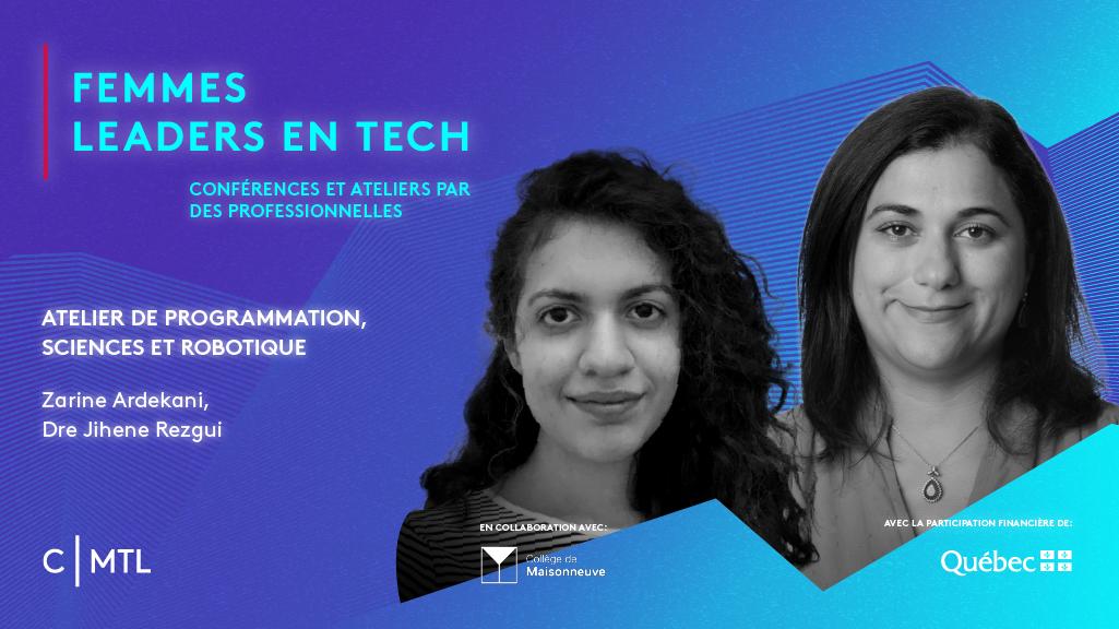 Femmes leaders en Tech : Atelier de programmation, sciences et robotique